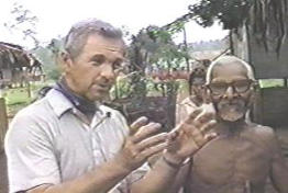Missionary James Blume with a native in Papua New Guinea